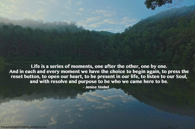 LIFE IS A SERIES OF MOMENTS – Energy Healing Homeopathy