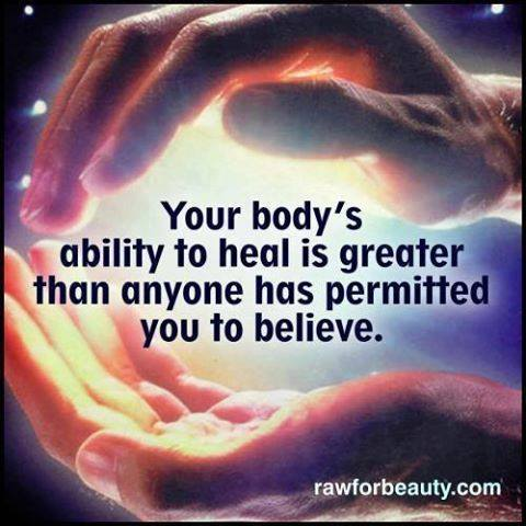 your body can heal